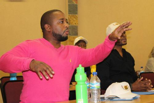 LEBO JOBO DISCUSSING ISSUES DURING THE AGM