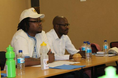 MOSES MTHUNZI AND BONOLO THEBE DURING THE AGM