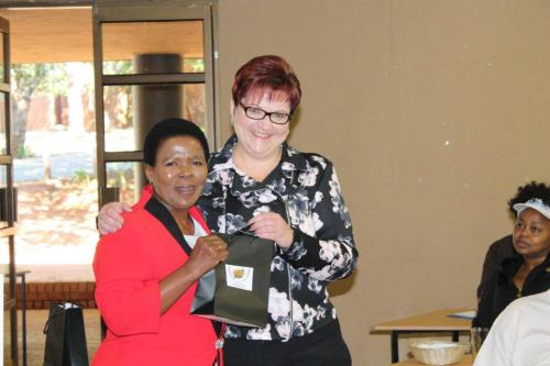 OUR CHAIRPERSON AND MARY SELITISHA FROM OUR HOST PROVINCE, NORTH WEST