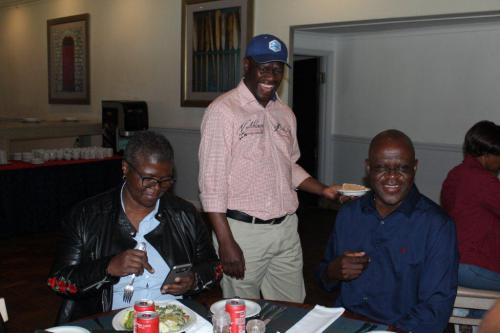 NOZIZWE, SIFISO AND LAWRENCE DURING LUNCH BREAK