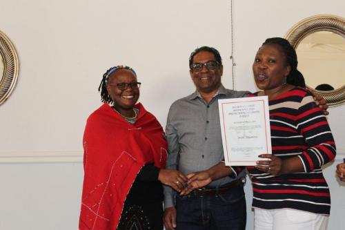 BAKEDI RECEIVING THE JUTA BOOK PRICE OBO DR D BROUGHTON FROM DPP PRETORIA